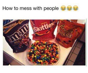 funny, skittles, and candy image