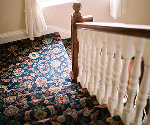 vintage, stairs, and house image
