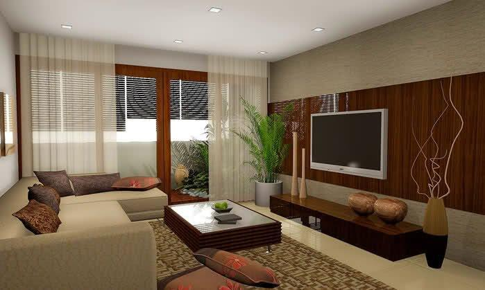 Furniture Feature Wall Tv Console With Brown Color Combination With White Curtain And Soft Brown Sofa And Picture With Theme About Tv On The Wall Ideas With Some Models Tv Stan Tables