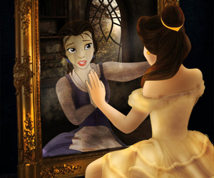 beauty and the beast, belle, and cool image