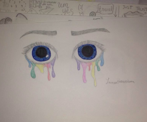 art, artistic, and blue eyes image