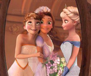 elsa, anna, and rapunzel image