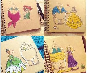 disney, princess, and baymax image