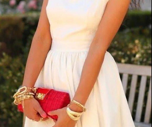 classy, dress, and gold image