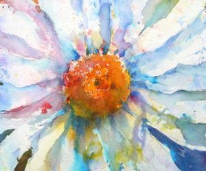 daisy, painting, and watercolor image