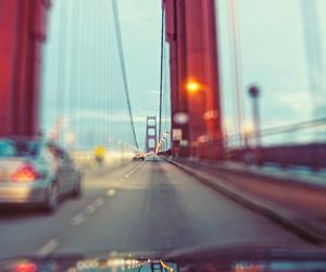 car, bridge, and photography image