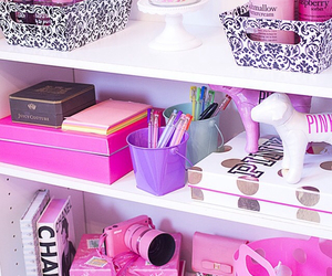 girly, pink, and room image