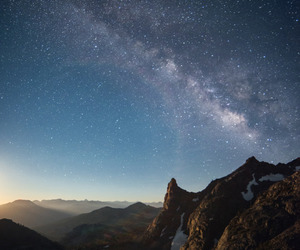 magic, stars, and mountain image