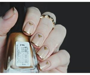 gold and nail art image