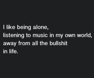 alone, music, and life image