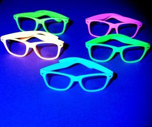 cool, eyes, and neon image