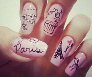 nails, paris, and nail art image