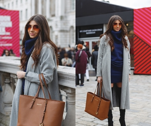 fashion blogger, larisa costea, and the mysterious girl image