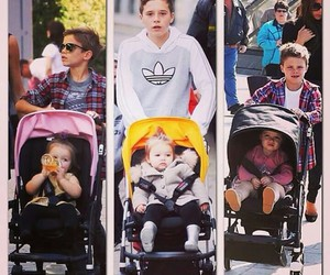 David Beckham, victoria beckham, and brooklyn beckham image