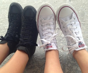 shoes, converse, and black image