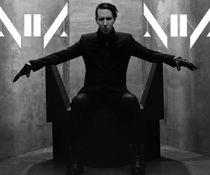 black and white, Marilyn Manson, and MM image