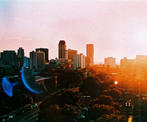 city, film, and light image