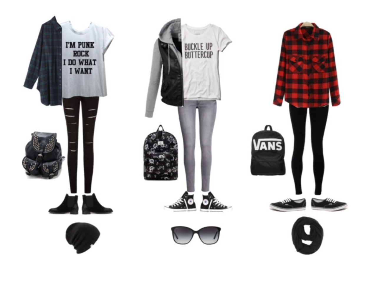 Rock punk outfits polyvore advise to wear in winter in 2019