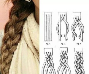 hair, braid, and diy image