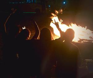 bonfire, friendship, and goals image