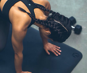 fitness inspiration, fitness goals, and hair goals image
