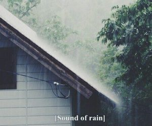 rain, sound, and grunge image