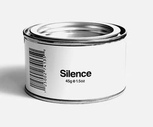 silence and white image