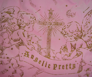 angel, cross, and pink image