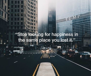 quote, lost, and happiness image