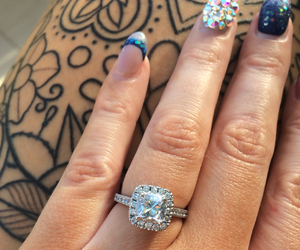 diamond, engagement, and happiness image