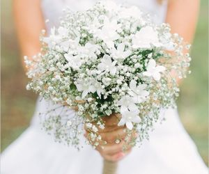 wedding, bouquet, and white image