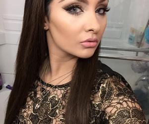 brunette, fashion, and glam image