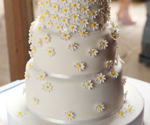 daisy, cake, and flowers image