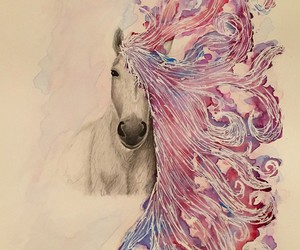 unicorn, colors, and drawing image