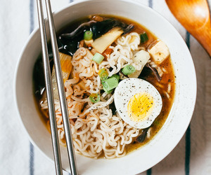 food, ramen, and egg image