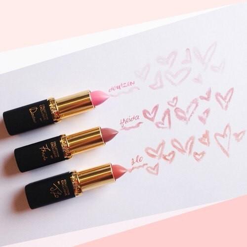 beautiful, heart, and lipstick image