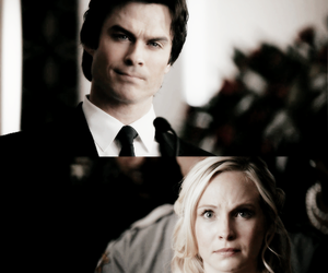 the vampire diaries, daroline, and damon x caroline image