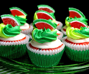 cupcake, sweet, and green image