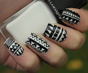 nails, black, and white image