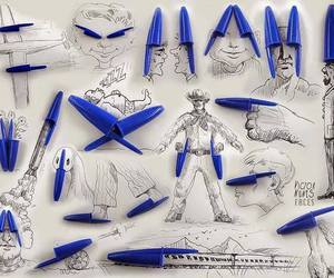 art, drawing, and pen image