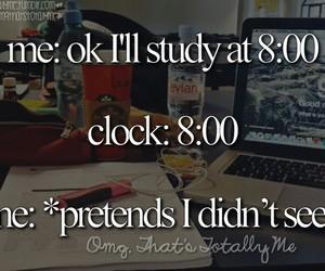 school, study, and me image