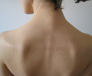 braille, tattoo, and scarification image