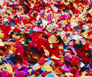 colorful, colors, and confetti image
