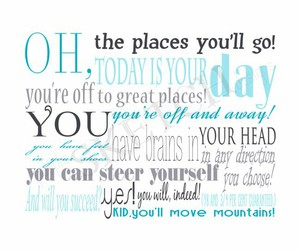 blue, dr seuss, and grey image