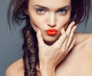 hair, model, and lips image