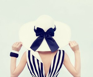 hat, girl, and summer image