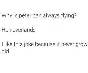 peter pan, joke, and neverland image