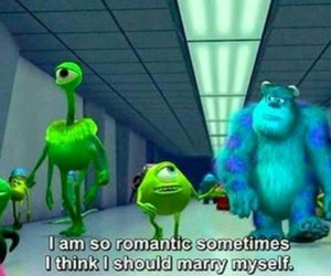 romantic, funny, and monster image