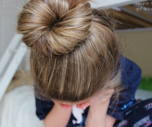 hair, bun, and tumblr image