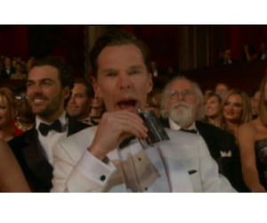 benedict, drink, and haha image